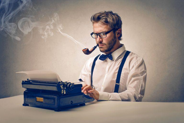 rokende journalist verkleind
